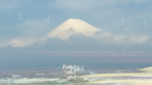 Mt Fuji from bullet train